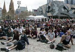 Melbourne Launch  venue, Federation Square